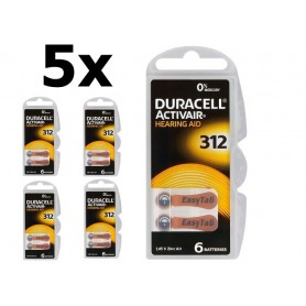 Duracell - Duracell ActivAir 312 MF (Hg 0%) Hearing Aid baterii pentru aparate auditive - Baterii plate - BL066-CB www.NedRo.ro