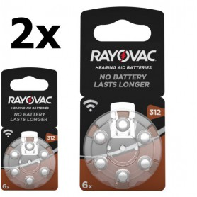 Rayovac, Rayovac Acoustic HA312 / 312 / PR41 / ZL3 180mAh 1.4V Hearing Aid Battery, Button cells, BS081-CB, EtronixCenter.com