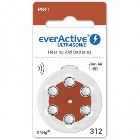 EverActive - everActive ULTRASONIC 312 baterii aparate auditive - Baterii plate - BL301-CB www.NedRo.ro