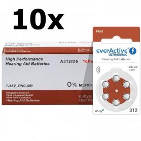 EverActive - everActive ULTRASONIC 312 Gehoorapparaat batterijen - Knoopcellen - BL301-CB www.NedRo.nl