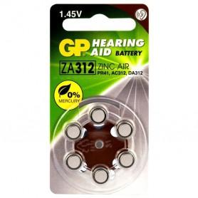 GP - GP 312 / ZA312 / PR41 baterii aparate auditive - Baterii plate - BL303-CB www.NedRo.ro