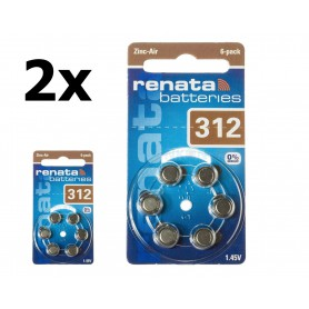 Renata - Renata ZA 312 Hearing Aid Battery - Hearing batteries - NK403-CB