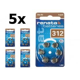 Renata - Renata ZA 312 Hearing Aid Battery - Button cells - NK403-CB www.NedRo.us