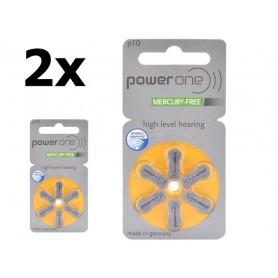 Varta - Power One de Varta P10 / 10 / PR70 1,45V Baterie pentru auditive - fără mercur - Baterii plate - BS089-CB www.NedRo.ro