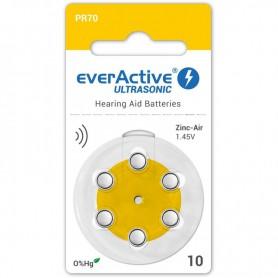 EverActive - everActive ULTRASONIC 10 1,45V Gehoorapparaat batterijen - Knoopcellen - BL305-CB www.NedRo.nl