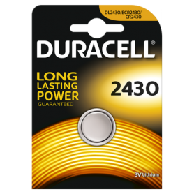 Duracell CR2430 lithium button cell battery