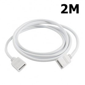 Oem - RGB 4-Pin 10mm LED Female-Female connector Extension Cable - LED connectors - LSCC16-CB