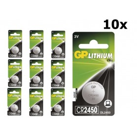 GP - GP CR2450, DL2450, ECR2450 3V Lithium button cell battery - Button cells - BS304 www.NedRo.us