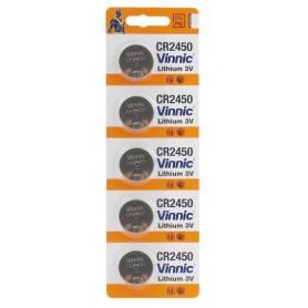 Vinnic CR2450, DL2450, ECR2450 3V Lithium button cell battery