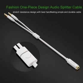 UGREEN, 3.5mm F to Dual 3.5mm M Headset Mic Audio Y Splitter, Audio cables, UG174-CB