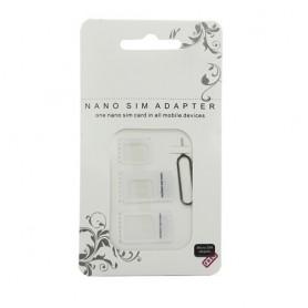 Oem - 4 in 1 SIM Micro-SIM Nano-SIM adapter + Pin Key AL226 - SIM adapters - AL226-CB