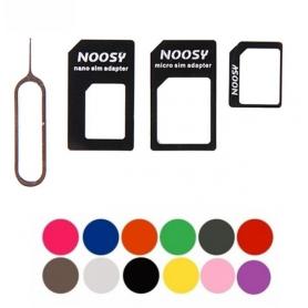 NedRo - 4 in 1 SIM Micro-SIM Nano-SIM adapter + Pin Key AL226 - SIM adapters - AL226 www.NedRo.us