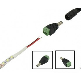 LED Jack DC Plug Male naar draad connector