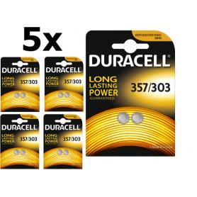 Duracell - Duracell 357-303 /G13 / SR44W 1.5V knoopcel batterij - Knoopcellen - BS307 www.NedRo.nl