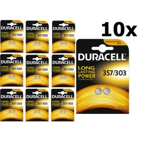 Duracell - Battery Duracell 357-303 /G13 / SR44W 1.5V - Button cells - BS307 www.NedRo.us