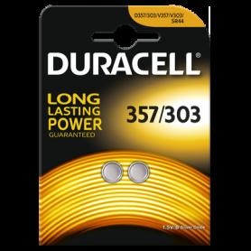 Duracell 357-303 /G13 / SR44W 1.5V knoopcel batterij