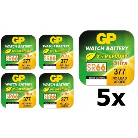 GP - GP 377 / 376 / SR 626 SW / G4 1.55V Alkaline horloge knoopcel batterij - Knoopcellen - BL314 www.NedRo.nl