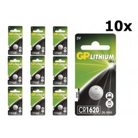 GP - GP CR1620 3v lithium knoopcelbatterij - Knoopcellen - BS314 www.NedRo.nl