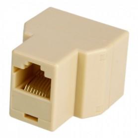 Oem - RJ45 CAT5 CAT6 Ethernet Splitter Connector Adapter - 2 pieces - Network adapters - AL259-CB