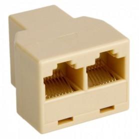 NedRo, RJ45 CAT5 CAT6 netwerk splitter connector adapter - 2 Stuks, Netwerk adapters, AL259-CB, EtronixCenter.com