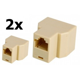 NedRo - RJ45 Cat 5 6 Ethernet Splitter Connector Adapter - Network adapters - AL259-CB www.NedRo.us