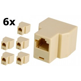 Oem - RJ45 CAT5 CAT6 Ethernet Splitter Connector Adapter - Network adapters - AL259-CB