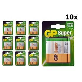 GP, GP Super Alkaline 3LR12/4.5V Battery, Size C D 4.5V XL, BS104-CB, EtronixCenter.com