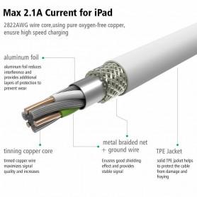 UGREEN - Cablu de sincronizare și încărcare Lightning USB de înaltă calitate pentru iphone, ipad, itouch US155 - iPhone cablu...