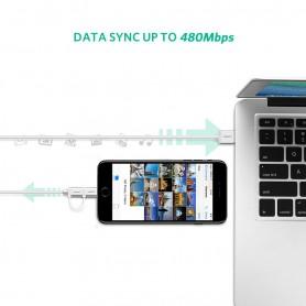UGREEN - 2 in 1 UGREEN Cablu Lightning USB A la Micro USB - iPhone cabluri de date  - UG419-CB www.NedRo.ro