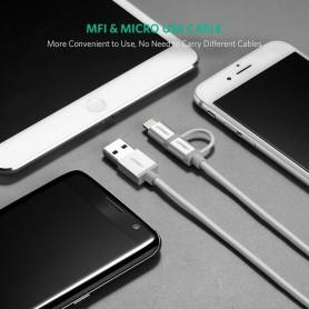 UGREEN - UGREEN Lightning-kabel, USB naar Micro USB en Lightning-kabel - iPhone datakabels - UG419-CB www.NedRo.nl