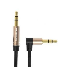 Vention - Audiokabel 3.5mm Mannelijk 90 ° tot 3.5mm Mannelijk - Audio kabels - V097-CB www.NedRo.nl