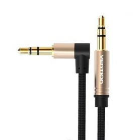 Vention, Vention Audio Jack 3.5mm Aux Cable Male to Male 90 Degree Right Angle Round Audio Cable, Audio cables, V097-CB