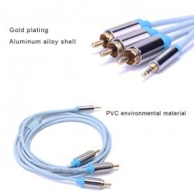 Vention - Vention RCA-kabel vergulde 2.5mm jack naar 3 RCA male naar male stereo audiokabel - Audio kabels - V098-CB www.NedR...