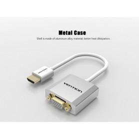 Vention - HDMI naar VGA converter met 3.5mm audio voeding - HDMI adapters - V101-CB www.NedRo.nl