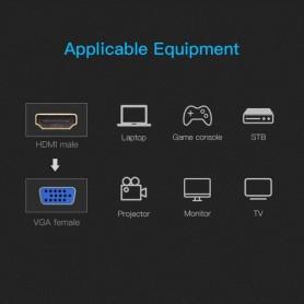 Vention - Platte HDMI 1.4 Male naar VGA Female converter - HDMI adapters - V058-CB www.NedRo.nl