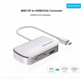 Vention, Mini DP Displayport naar HDMI / VGA Converter Adapter, HDMI adapters, V103-NEW, EtronixCenter.com