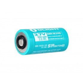 OLIGHT - Olight RCR123A special for S1RII 550mAh 3.7V Rechargeable battery - Other formats - NK422-CB www.NedRo.us