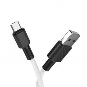 HOCO, HOCO USB naar Micro-USB X29 Carbon kabel, USB naar Micro USB kabels, H100161-CB, EtronixCenter.com