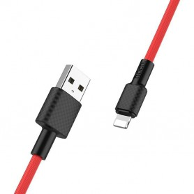 HOCO, HOCO Carbon X29 USB naar IPHONE Lightning Kabel, iPhone datakabels, H100157-CB, EtronixCenter.com