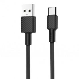HOCO, HOCO USB naar Type C Carbon X29 kabel, USB naar USB C kabels, H100163-CB, EtronixCenter.com