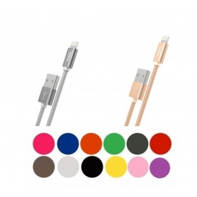 HOCO, Hoco Knitted X2 Lightning to USB 2.0 Data Cable for Apple iPhone, iPhone data cables , H100167-CB, EtronixCenter.com