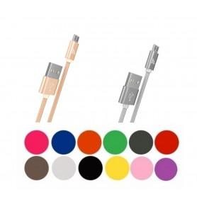 HOCO, HOCO X2 USB naar Micro-USB Gevlochten kabel, USB naar Micro USB kabels, H100169-CB, EtronixCenter.com
