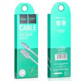 HOCO, HOCO Knitted X2 cablu de date USB la Micro-USB, Cabluri USB la Micro USB, H100169-CB, EtronixCenter.com