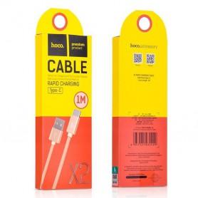 HOCO, HOCO USB naar Type-C X2 Gevlochten kabel, USB naar USB C kabels, H100171-CB, EtronixCenter.com
