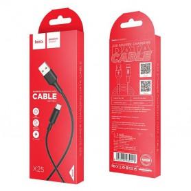HOCO, HOCO Soarer X25 cablu de date USB la Type-C, Cabluri USB la USB C, H100155-CB, EtronixCenter.com