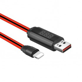 HOCO - Hoco Lightning IPhone USB Cable with LED Display Timer - iPhone data cables - H100173-CB www.NedRo.us