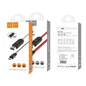 HOCO - HOCO USB naar Micro-USB Oplaadkabel met LED-display en Timer - USB naar Micro USB kabels - H61148-CB www.NedRo.nl