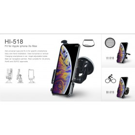 Haicom, Haicom phone holder for Apple iPhone XS MAX FI-518, Bicycle phone holder, HI011-SET-CB, EtronixCenter.com