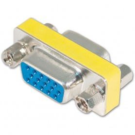 15 Pin HD SVGA VGA vrouwtje naar vrouwtje, female to female adapter