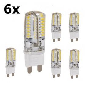 NedRo - G9 9W Bec cu LED-uri Alb Cald SMD2835 48LED (nereglabil) - G9 LED - AL300-9WW-CB www.NedRo.ro